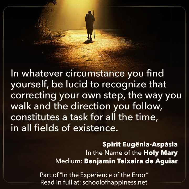 Need to correct our own step