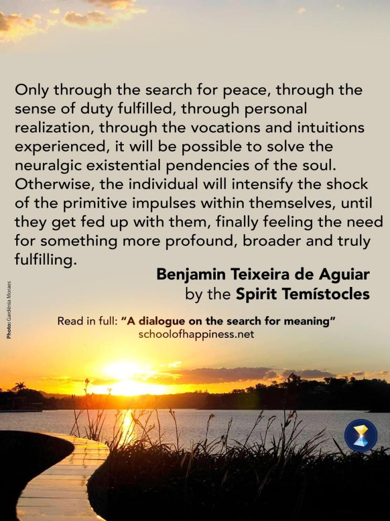 A dialogue on the search for meaning