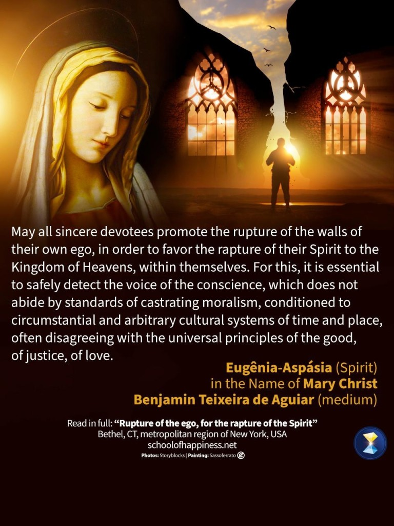 Rupture of the ego, for the rapture of the Spirit