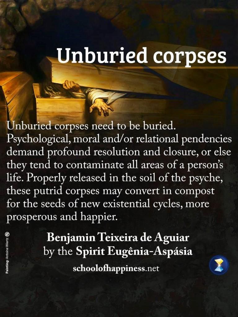 Unburied corpses