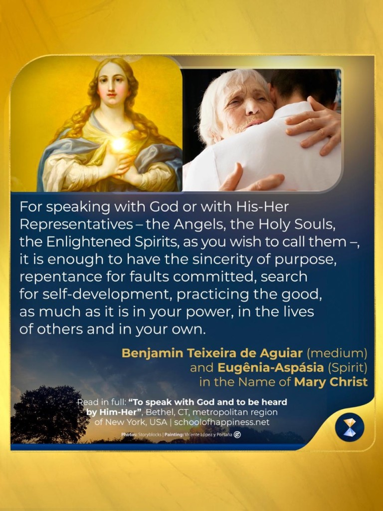 To speak with God and to be heard by Him-Her