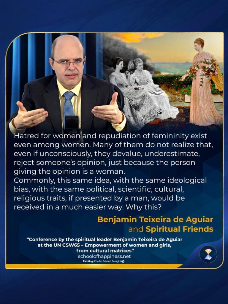 Conference by the spiritual leader Benjamin Teixeira de Aguiar at the UN CSW65