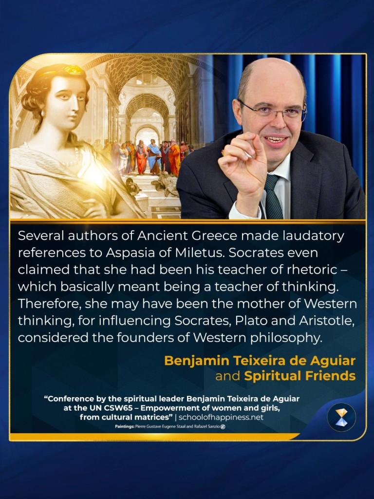Conference by the spiritual leader Benjamin Teixeira de Aguiar at the UN CSW65...