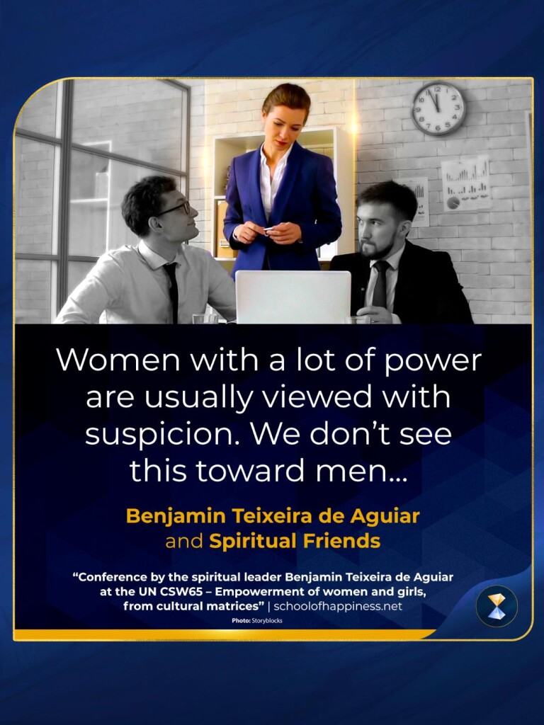 Conference by the spiritual leader Benjamin Teixeira de Aguiar at the UN CSW65 — Empowerment of women and girls, from cultural matrices
